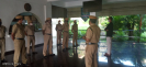 Morning parade of the Kexcon security guards at CWRDM Kozhikode, a Govt of India establishment